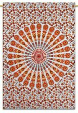Mandala Cotton Indian Wall Hanging Tapestry Poster Size White Bohemian Throw