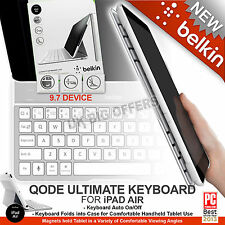 Belkin QODE Ultimate Bluetooth Keyboard Case for iPad Air1 White F5L151eaWHT NEW