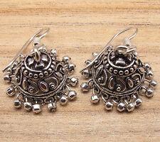 JHUMKI EARRINGS , VINTAGE , ETHNIC INDIAN JEWELRY JHUMKA , 925 Silver Plated