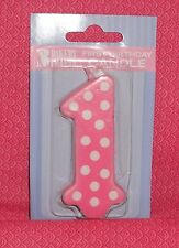 First Birthday Candle,#1,Pink, Girl,Bakery Crafts,Wax Cake Decoration