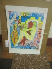 LEO RUSSELL LISTED  PSYCHEDELIC SURREALISM EROTIC LITHOGRAPH