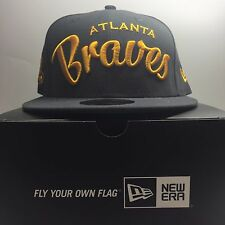 New Era 59Fifty Atlanta Braves 7 1/4 Fitted Baseball Cap 3 Free Post