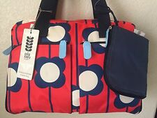 ORLA KIELY Red Floral Diaper Bag Large 3-Piece Satchel Girl