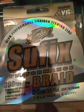 Sufix Performance Braid Braided Fishing Line - Neon Fire Orange 50 lb 300 Yd NIB