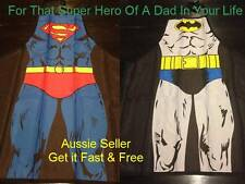 Fathers Day SuperHero Batman or Superman BBQ Chef Apron Fun Party Novelty Comic