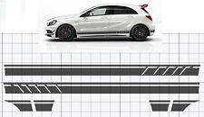 Mercedes-Benz A45 A-Class AMG W176 Side stripe Decal, Set Black EDITION 1 style.