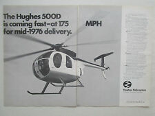 1/1976 PUB HUGHES 500D HELICOPTER HELICOPTERE HUBSCHRAUBER ORIGINAL AD