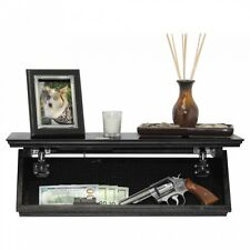 Quick Shelf Hidden Safe RFID Locking System Gun Cash Jewelry Storage-Black