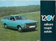 Datsun Nissan Sunny 120Y 1975 UK Market Sales Brochure Saloon Coupe Estate