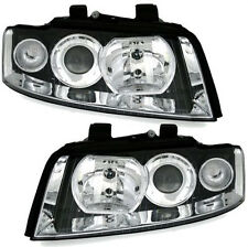 Clear chrome finish H7 H7 headlights front lights for AUDI A4 8E B6 BJ 00-04
