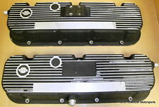 Mickey Thompson BB Chevy Valve Covers, Black Krinkle, Rat-Rod Special