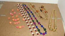 VINTAGE / MODERN LOT OF 5 BEADED  NECKLACES