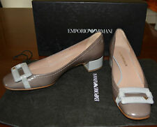 NIB EMPORIO ARMANI LEATHER FLATS SHOES  SZ US 6.5 EU 37 $525