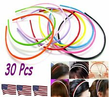 Lot of 30 - Candy color Acrylic Plastic Hair bands Headbands Accessories Woman