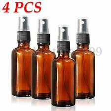 4Pcs 50ml (2 OZ) Amber Glass Bottle Mist Spray With Cap For Aromatherapy Perfume