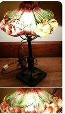 Gorgeous Real  Antique Pairpoint Puffy Reverse-Painted Rose Table Lamp