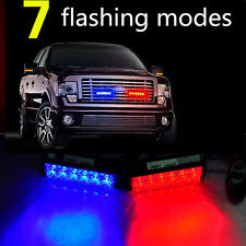 12 Led 36W Strobe Warning Bar Daytime Emergency Light Red Blue Running Police