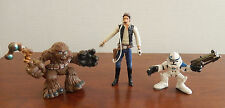 Vintage Star Wars Han Solo, Chewbacca & StormTropper Action Figures
