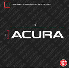 2X ACURA LOGO sticker vinyl decal white