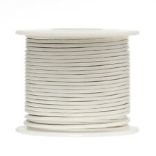 "24 AWG Gauge Stranded Hook Up Wire White 250 ft 0.0201"" UL1007 300 Volts"