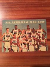 1992 SKYBOX U.S.A. BASKETBALL INSERT DREAM TEAM PLASTIC TEAM CARD RARE!
