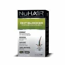 Nu Hair DHT Blocker Hair Regrowth Support Formula Tablets, 60-Count Bottle , New
