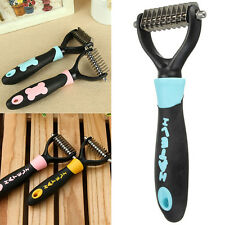 Dog Pet Cat Dematting Tool Grooming Shedding Trimmer Comb Brush Rake 10 Blade