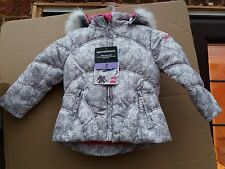 Girls 2 Years Weatherproof Grey & Pink Snow Winter Insulated Coat Jacket NEW