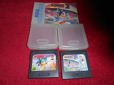 SONIC THE HEDGEHOG & SONIC THE HEDGEHOG 2 SEGA GAME GEAR TESTED 100% WORKING
