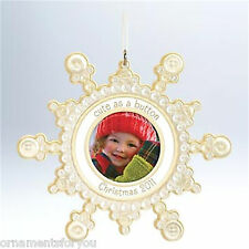 Hallmark 2011 Cute as a Button  Baby's First Christmas Photo Holder
