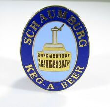 Schaumburg Keg-A-Beer Pin in Gold Tone Pin with Enamel