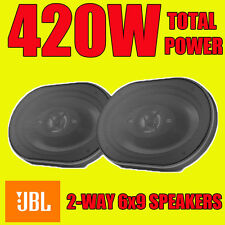 "JBL 6""x9"" 6x9 420W total power, 2-way car rear deck oval shelf speakers grills"