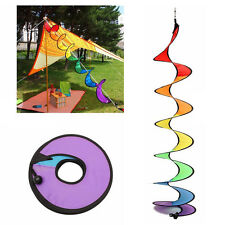 Colorful Rainbow Spiral Windmill Tent Wind Spinner Garden Home Decorations New