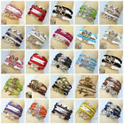 Hot Fashion Jewelry lots Style Leather Cute Infinity Charm Bracelet Cheap U Pick