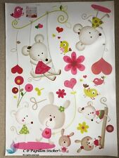 PINK Micky Mouse Animale Vivaio Bambini Baby rimovibile Wall Sticker/Decalcomania
