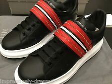 ALEXANDER MCQUEEN SNEAKERS BLACK RED WHITE LEATHER SIZE 43 EURO 10-11 US NEW