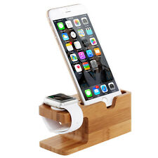 Bois De Bambou Dock Station Charge Support Stand Holder Pour Apple Watch iPhone