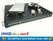 Cisco Catalyst 3560E-48TD Gigabit Switch 48-Port 2x X2-10GB-SR 1x PWS 1x FAN