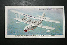 Imperial Airways  SATYRUS Short Flying Boat   1930's Original Vintage Card