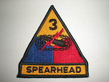 US ARMY 3RD ARMORED DIVISION PATCH WITH TAB -FULL COLOR