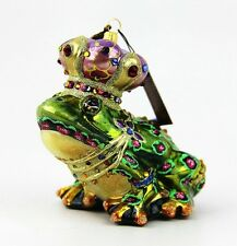 JAY STRONGWATER JUBILEE JEWEL FROG GLASS CHRISTMAS ORNAMENT BRAND NEW BOX
