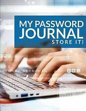 My Password Journal Store It! by Pat Steele (2015, Paperback)