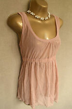 BNWT H&M Peach/nude sheer vest UK 10 36 Over a bikini?