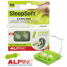 ALPINE SLEEPSOFT 2016 - Earplugs for Sleeping & Snoring, Free Cleaner FREE UK PP