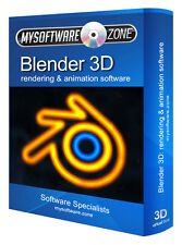 Blender 3D Graphics Animation Design Studio Software for PC and MAC OSX
