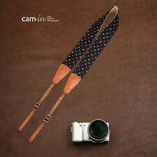 Black with colourful dots adjustable Cam-in DSLR Camera Strap CAM7126 UK Stock