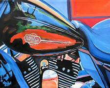 Harley-Davidson Motorcycle Original Art PAINTING DAN BYL Investment CollectorXXL