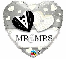 Palloncino Matrimonio in Mylar a Forma Cuore Mister e Miss 46 cm *03468