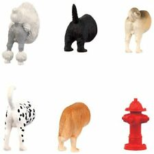 DOG BUTT Kitchen Refrigerator Magnets, Set of 6, by Kikkerland
