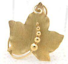 VTG 1/20 12k Gold Filled CARL ART Maple Leaf Brooch Pin